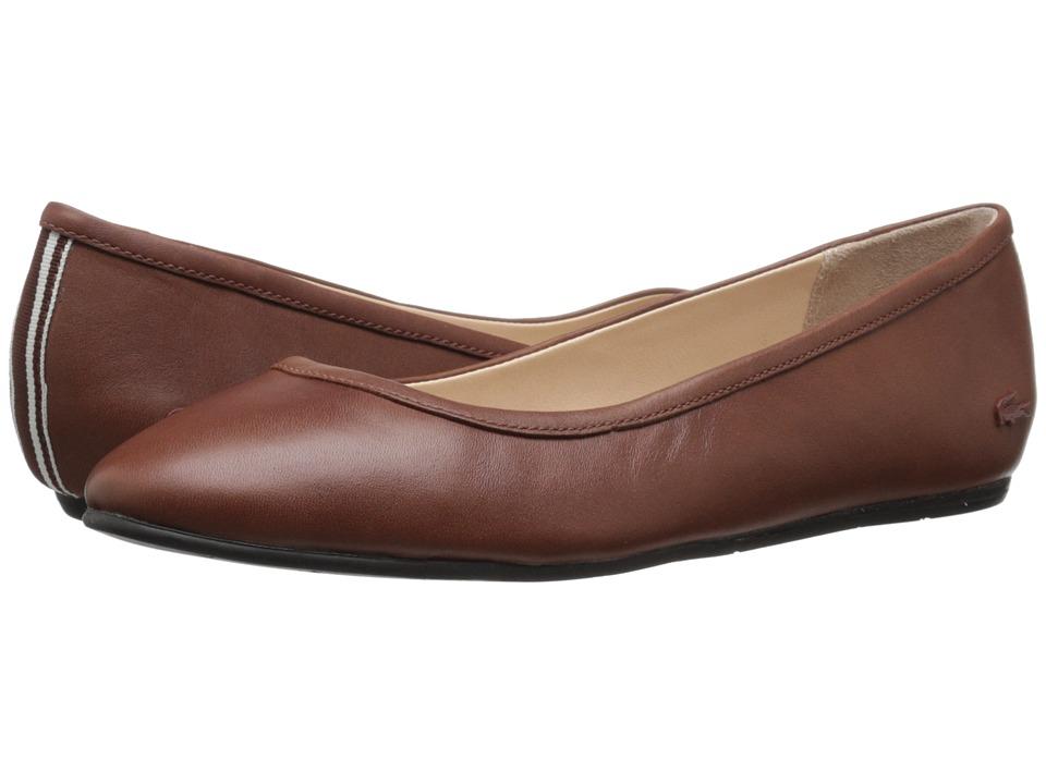 Lacoste Cessole 4 Brown Womens Flat Shoes