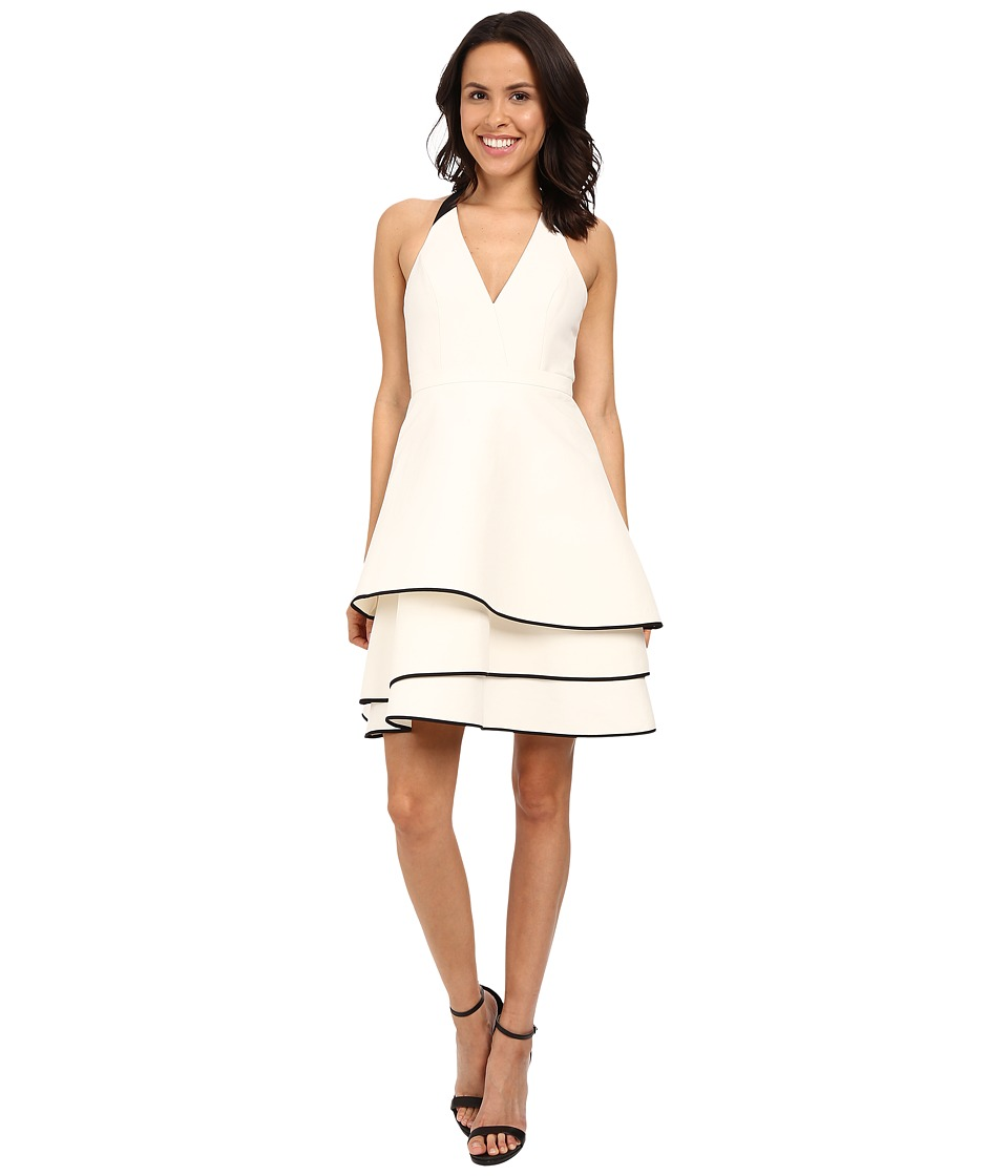 Halston Heritage - Halter Neck Dress with Layered Skirt