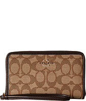 COACH - Box Program Signature Zip Case