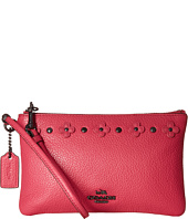 COACH - Box Program Floral Rivets Detaill Small Wristlet
