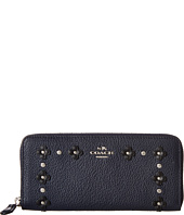 COACH - Floral Rivets Detail Slim Accordian Zip
