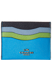 COACH - Box Program Color Block Flat Card Case