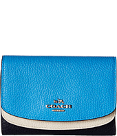 COACH - Color Block Double Flap Medium Wallet