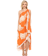 Halston Heritage - One Shoulder Printed Drape Gown