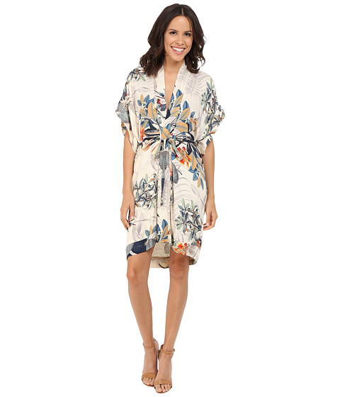 Brigitte Bailey Anara Waist-Tie Kimono Dress - Multi