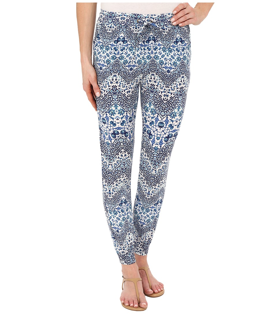 Brigitte Bailey Mariah Printed Pants Blue Womens Casual Pants