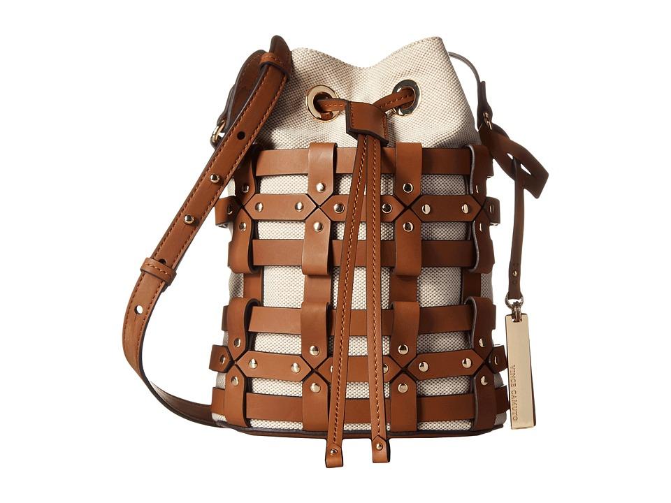 Vince Camuto - Klay Crossbody (Natural/Whiskey) Cross Body Handbags