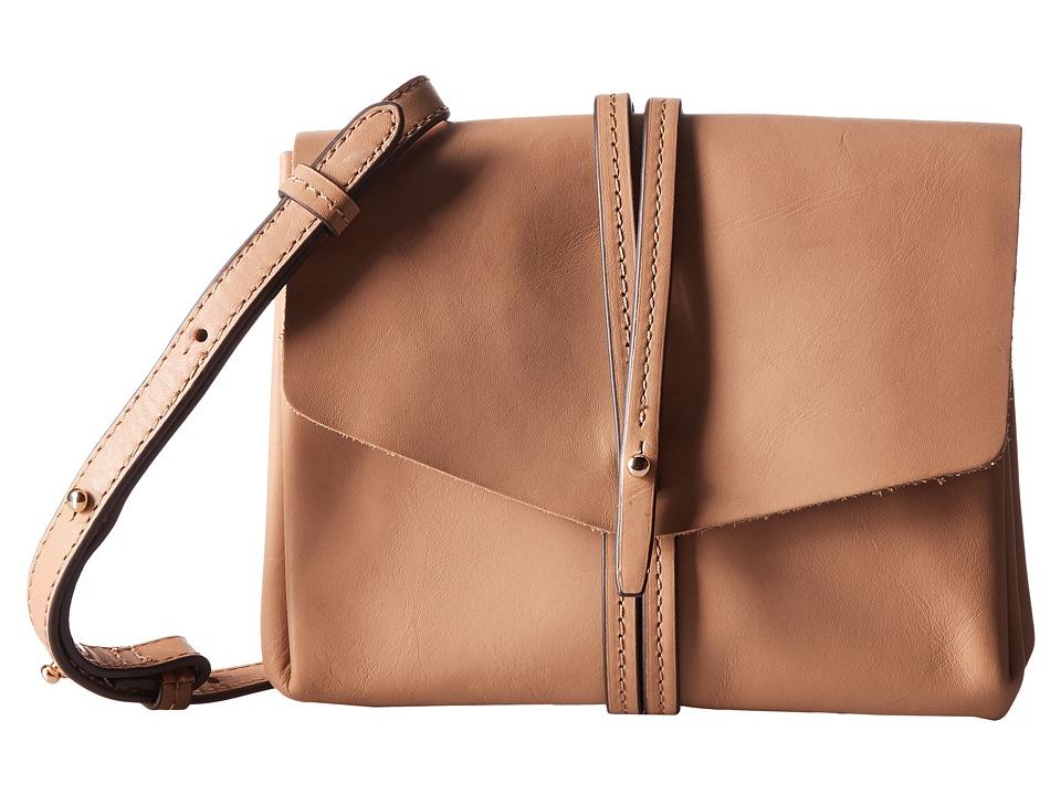 Vince Camuto - Tuck Crossbody (Natural Vachetta) Cross Body Handbags