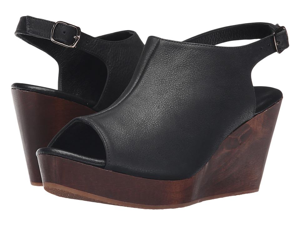 Cordani Fellesley Black/Wood Womens Wedge Shoes