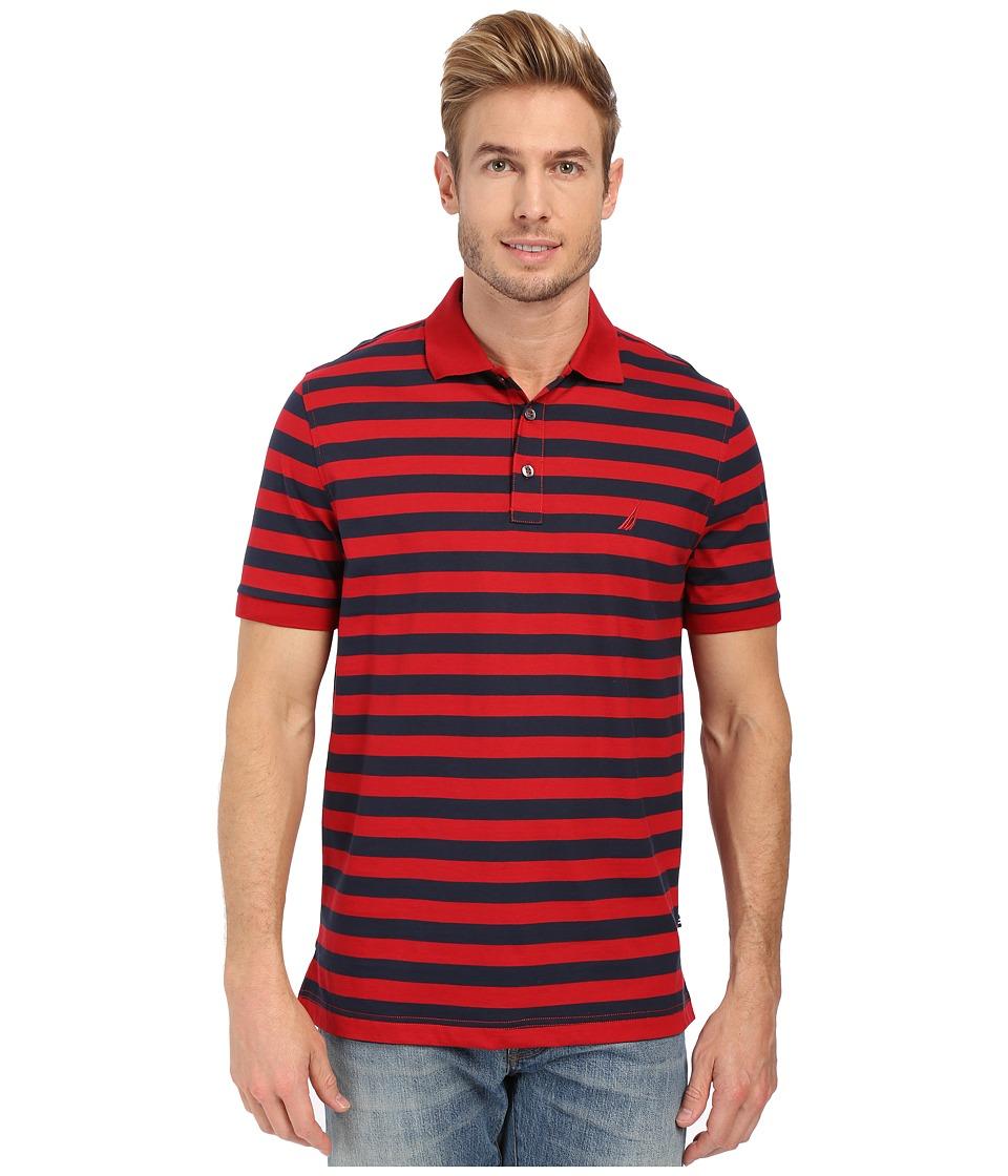 Nautica Short Sleeve Rectech Polo Nautica Red Mens Clothing