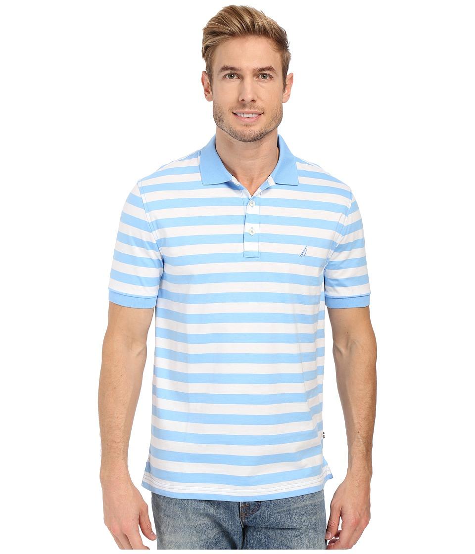 Nautica Short Sleeve Rectech Polo Blue Wind Mens Clothing