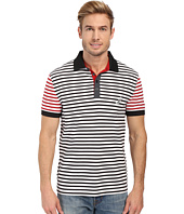 Nautica - Short Sleeve Stripe Block Polo