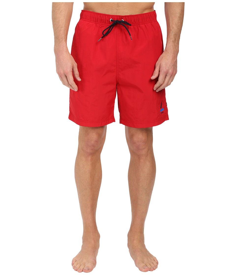 Nautica 1983 J Class Trunk Racer Red Mens Swimwear
