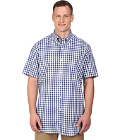 Nautica Big & Tall - Big & Tall Short Sleeve Wrinkle Resistant Plaid Pocket