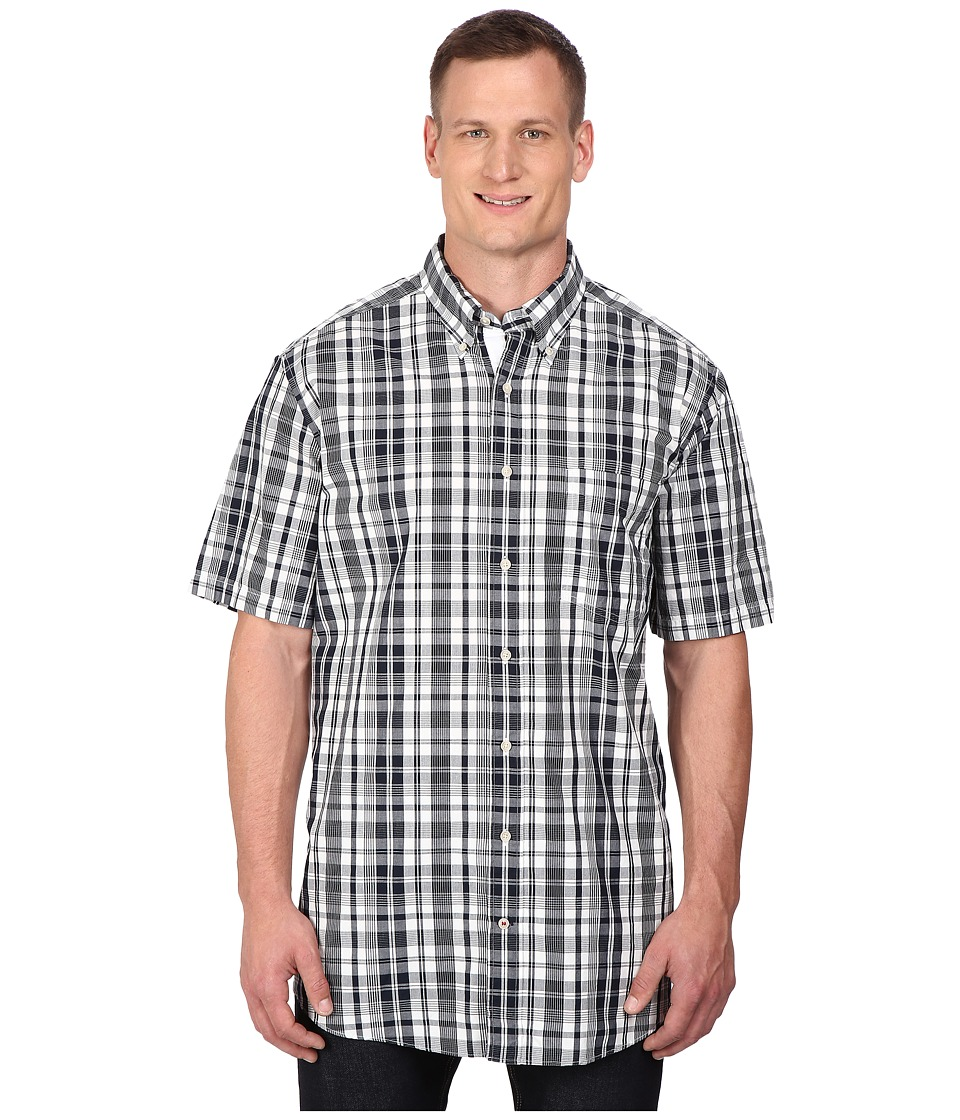 Nautica Big amp Tall Big Tall Short Sleeve Plaid Pocket Navy Mens Clothing