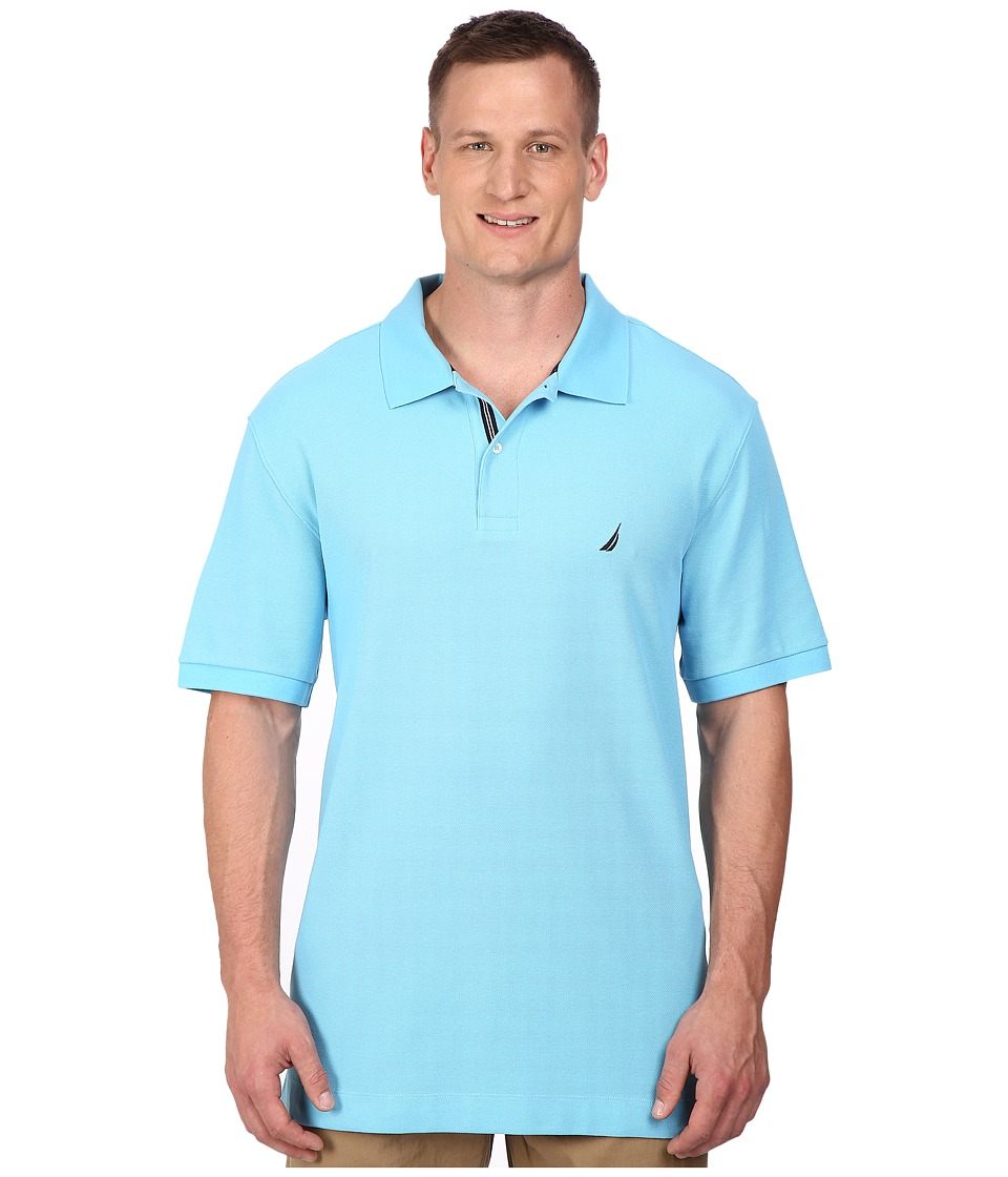 Nautica Big amp Tall Big Tall Short Sleeve Solid Deck Polo Blue Grotto Mens Short Sleeve Pullover