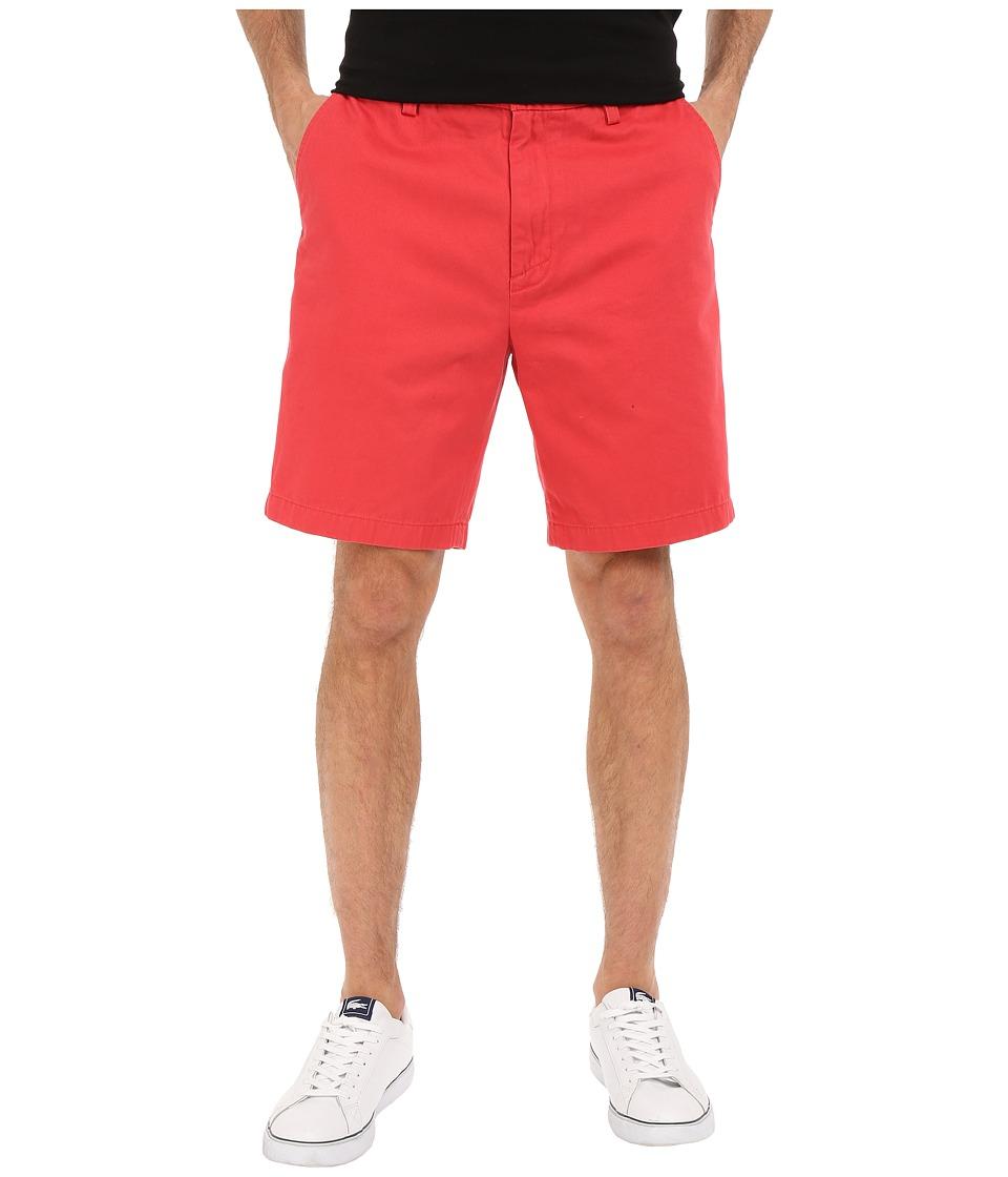 Nautica Flat Front Deck Short Sailor Red Mens Shorts