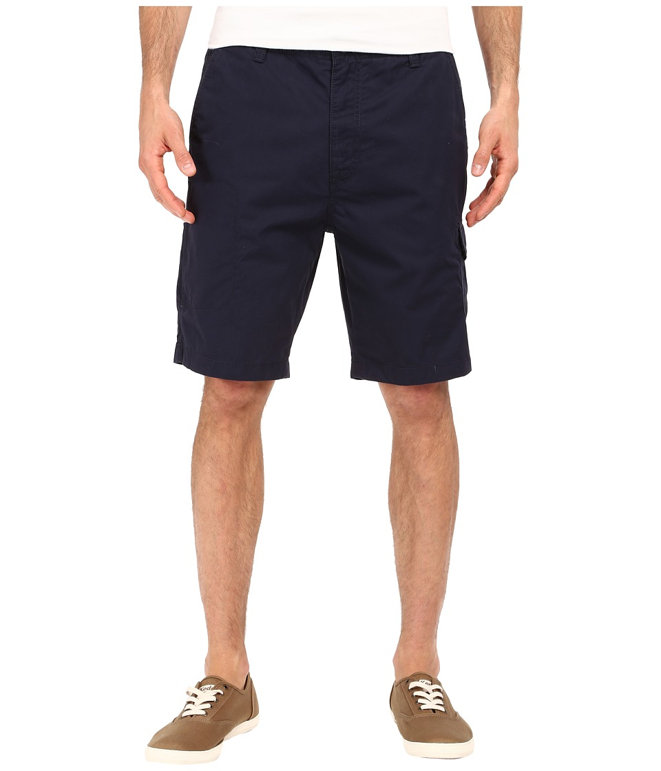Nautica Sail Cloth Poplin Cargo Shorts Navy Mens Shorts
