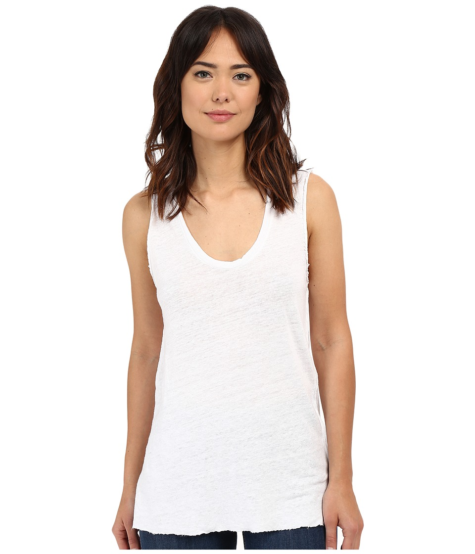 Project Social T Boardwalk Linen Tank Top White Womens Sleeveless