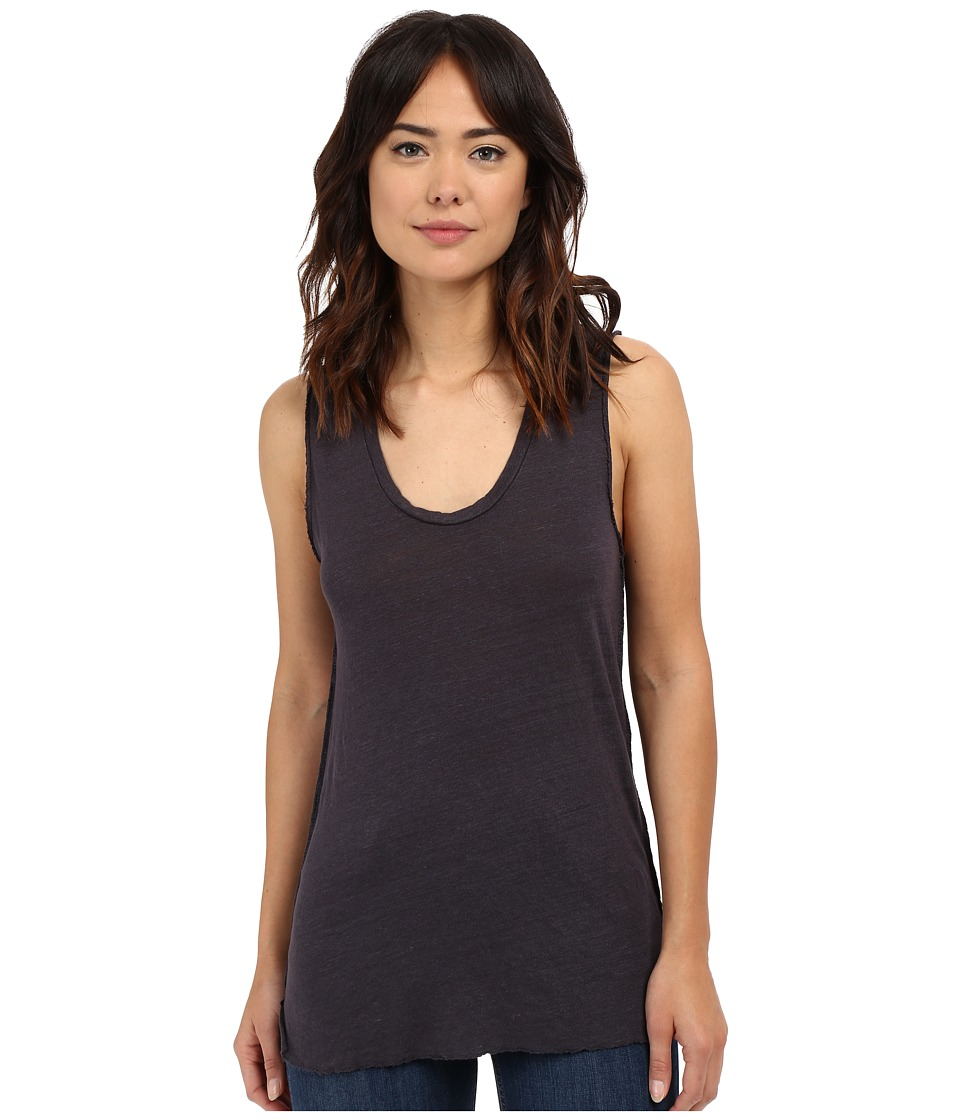 Project Social T Boardwalk Linen Tank Top Charcoal Womens Sleeveless
