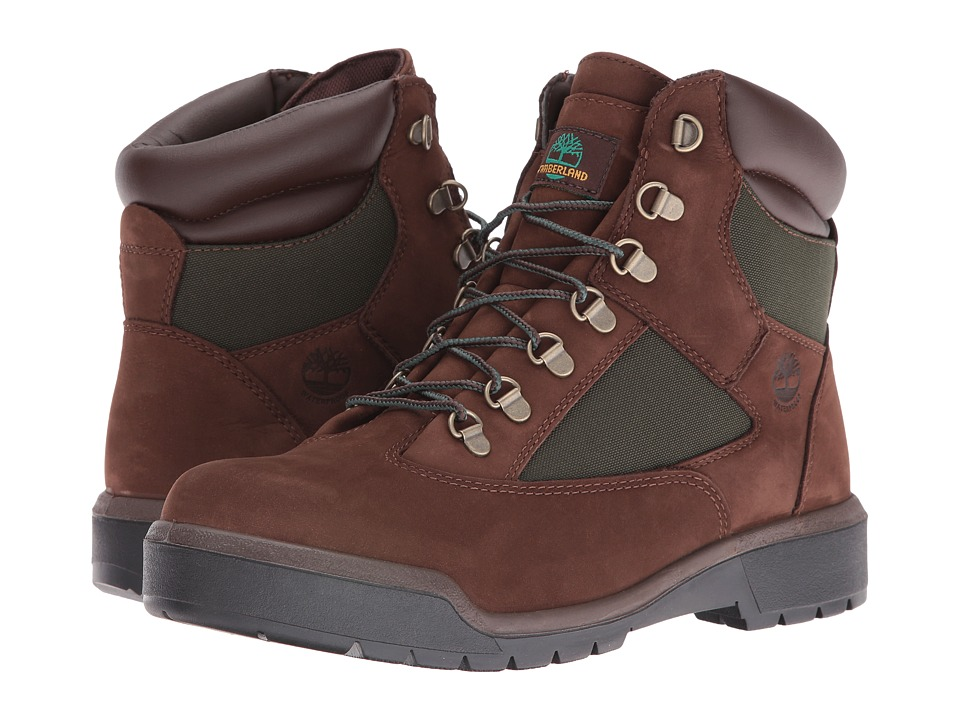 Timberland Field Boot 6 F/L Waterproof (Chocolate Old River Nubuck) Men