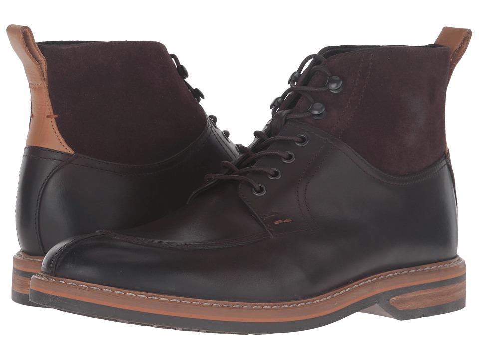 Clarks Pitney Hi (Brown Leather) Men
