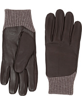 UGG - Leather Smart Gloves/Knit Trim
