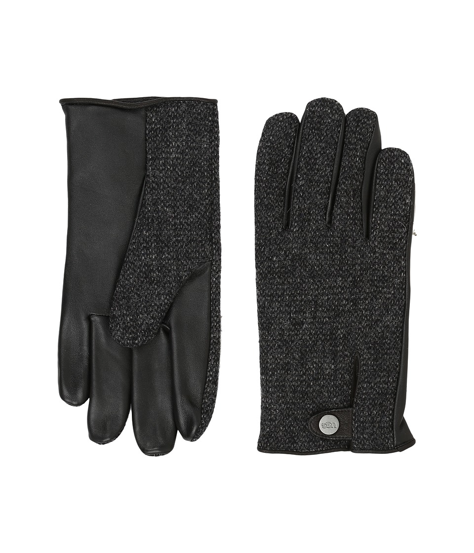 UGG Woolrich Smart Gloves w/ Leather Trim (Black Multi) Extreme Cold Weather Gloves