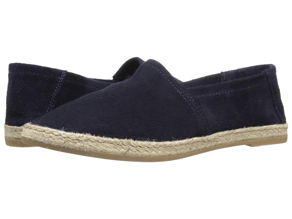 Miz Mooz Amaze Blue Suede Womens Slip on Shoes
