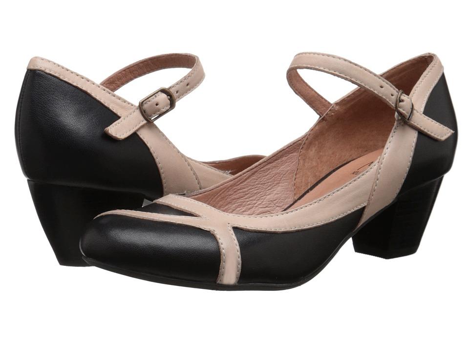 Miz Mooz - Felicie Black Womens Dress Flat Shoes $119.95 AT vintagedancer.com