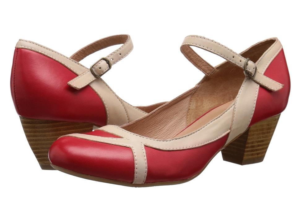 Miz Mooz - Felicie Red Womens Dress Flat Shoes $119.95 AT vintagedancer.com