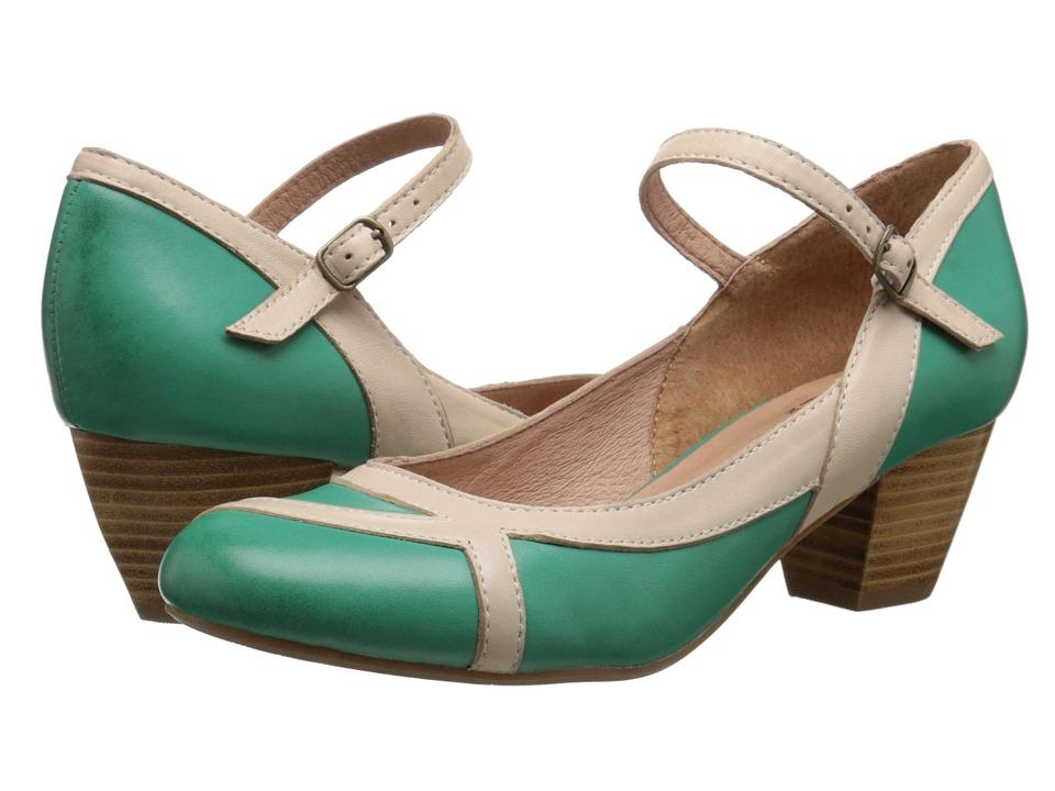 Miz Mooz Felicie Green Womens Dress Flat Shoes