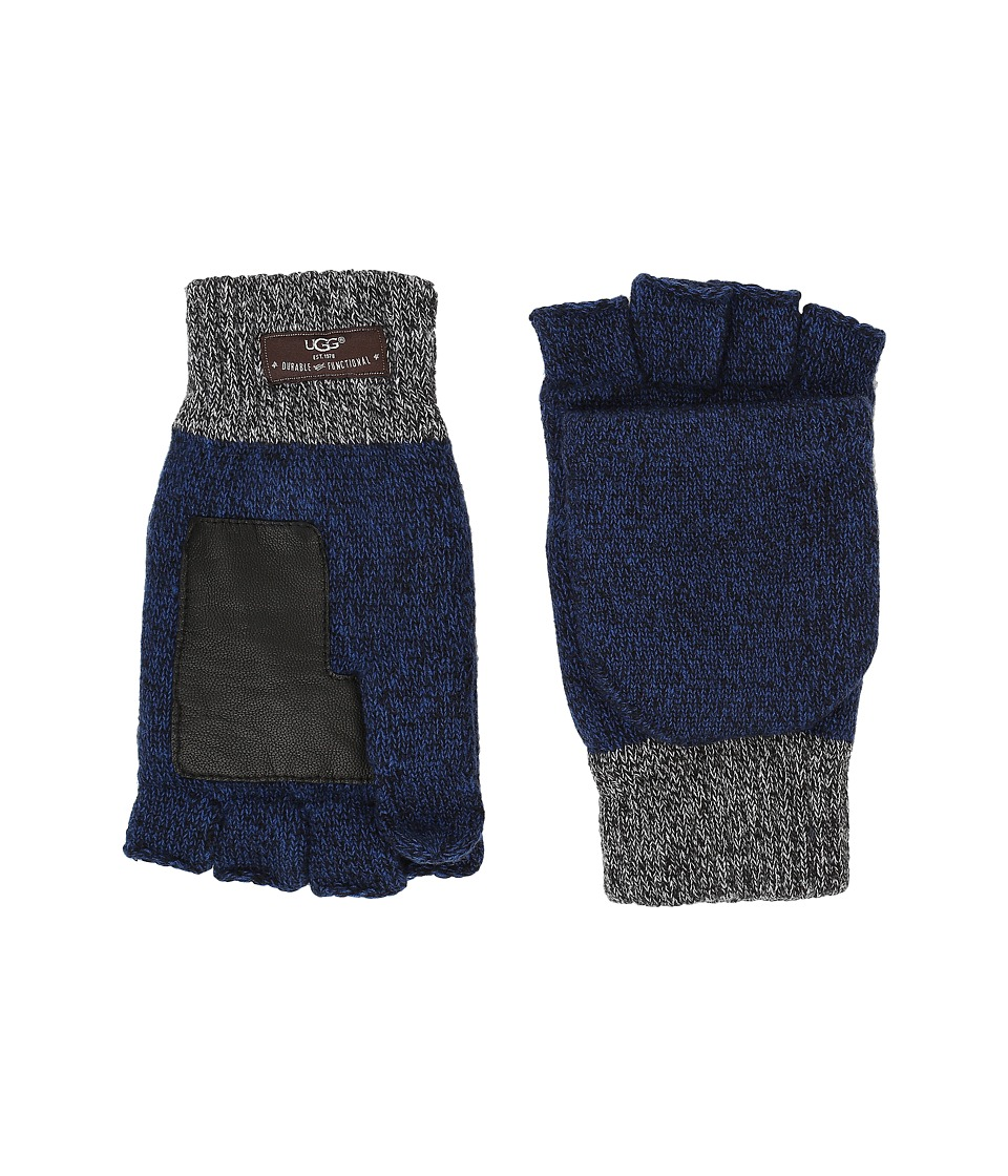 UGG Marled Flip Mittens (Navy Multi) Extreme Cold Weather Gloves