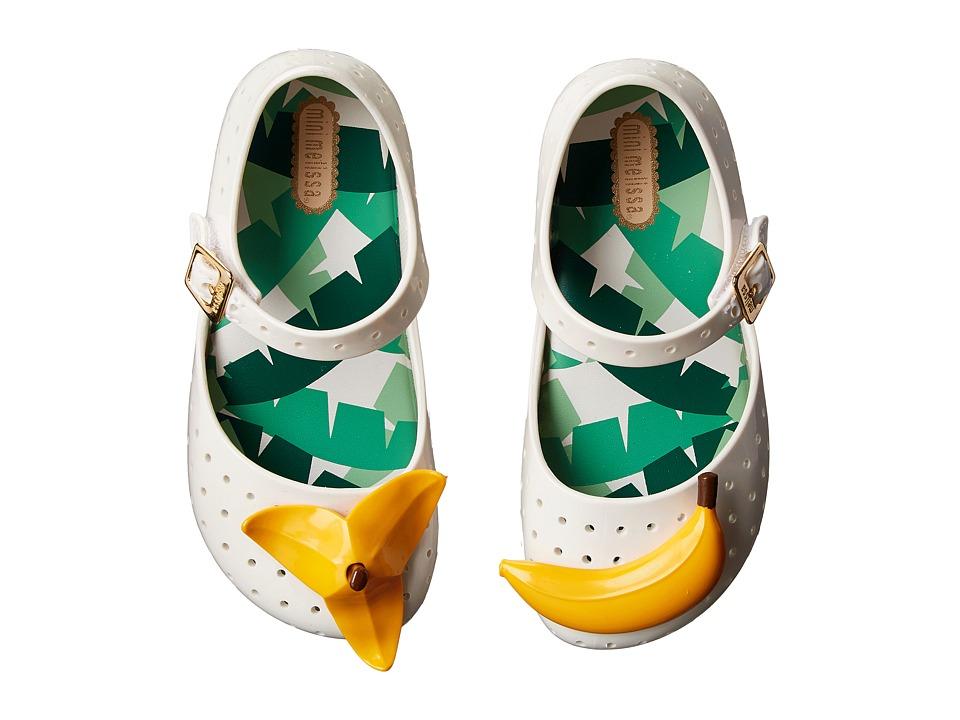 Mini Melissa Furadinha IX Toddler White Girls Shoes