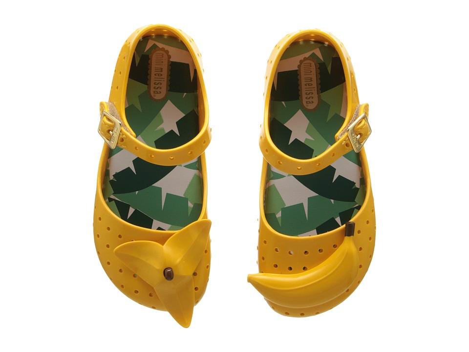 Mini Melissa Furadinha IX Toddler Yellow Girls Shoes