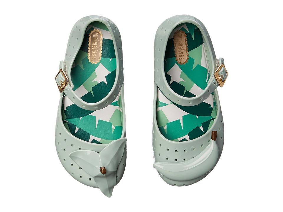 Mini Melissa Furadinha IX Toddler Baby Green Girls Shoes