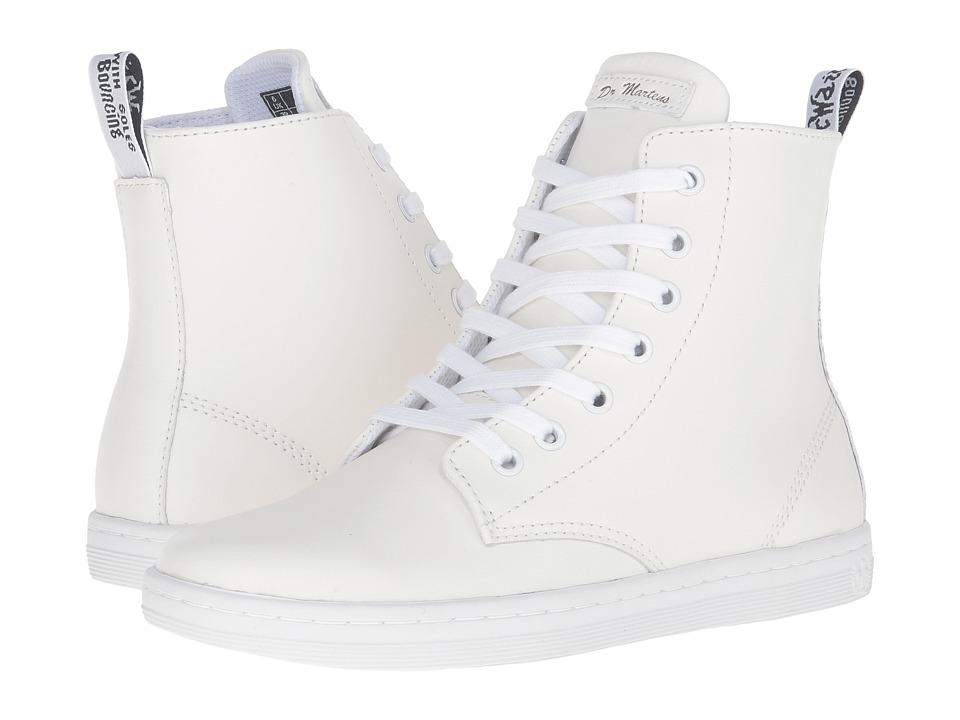 Dr. Martens Leyton 7-Eye Boot (White T Lamper) Women