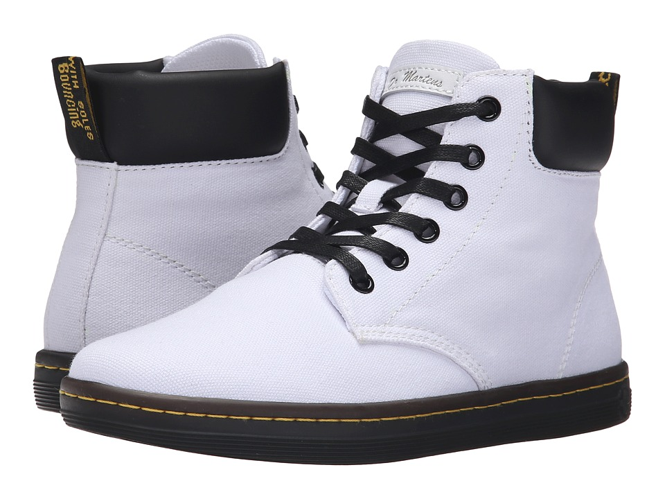 Dr. Martens Maelly Padded Collar Boot (White Canvas) Women