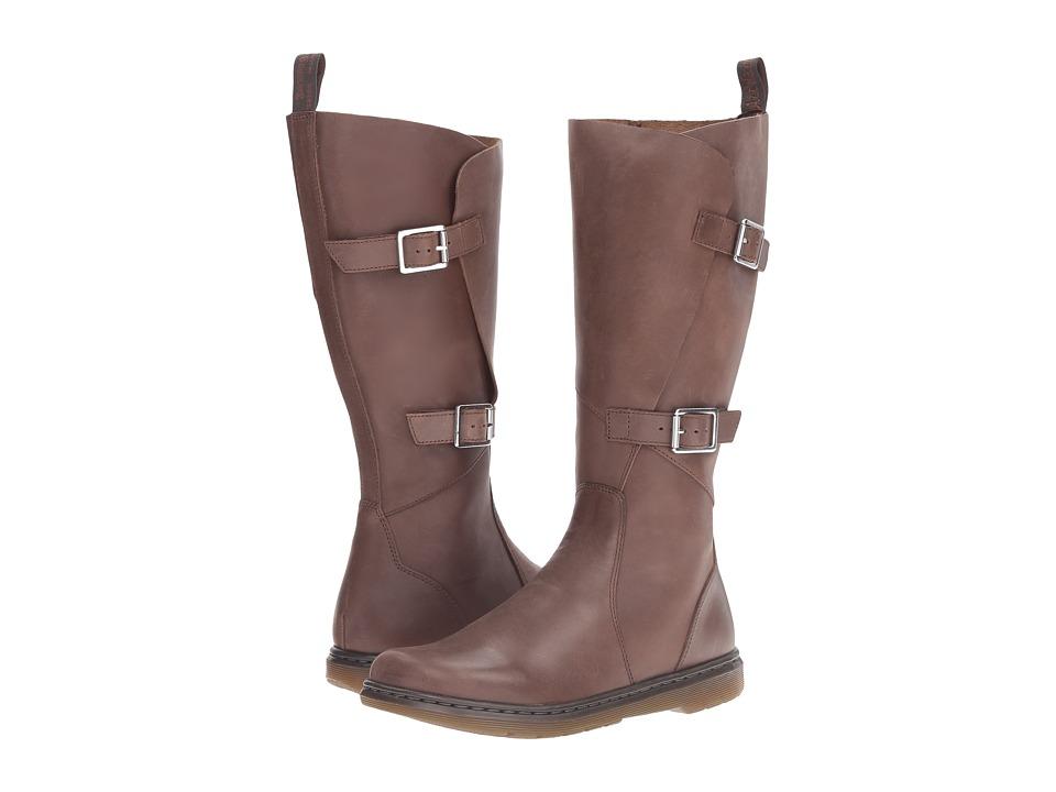 Dr. Martens Caite Buckle Wrap Boot (Dark Brown Oily Illusion) Women