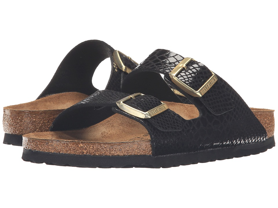 Birkenstock Arizona (Shiny Snake Black) Women