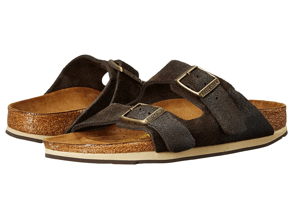 Birkenstock Arizona Sport (Brown Waxed Suede) Sandals