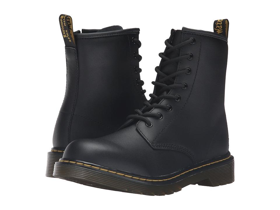 Dr. Martens Kids Collection - 1460 Youth Delaney Boot (Big Kid) (Black) Kids Shoes