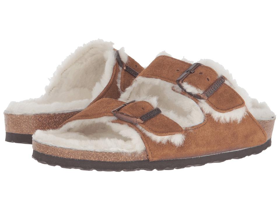 Birkenstock Arizona Shearling (Mink Suede) Women's  Shoes