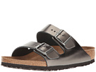 Birkenstock - Arizona Soft Footbed (Metallic Anthracite Leather)