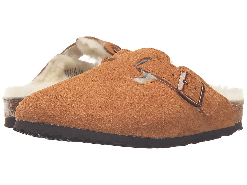 Birkenstock - Boston Shearling (Mink Suede) Womens Clog Shoes
