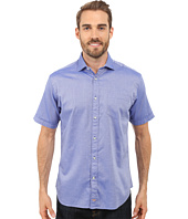 Thomas Dean & Co. - Short Sleeve Woven Polished Dobby