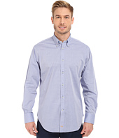 Thomas Dean & Co. - Long Sleeve Woven Chambray Horizontal Stripe