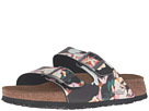 Birkenstock - Arizona Soft Footbed (Painted Bloom Black Birko-Flor)