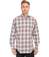 Thomas Dean & Co. - Long Sleeve Woven Twill-Finish Plaid