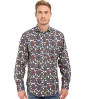 Thomas Dean & Co. - Long Sleeve Woven Bold Paisley Print